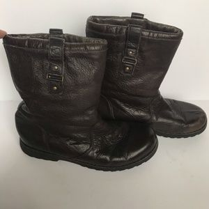 Ugg | Chocolate Brown Moto Style Short Boots, 6.5